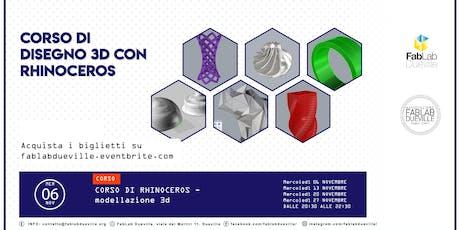 Corso di disegno 3D con Rhinoceros biglietti