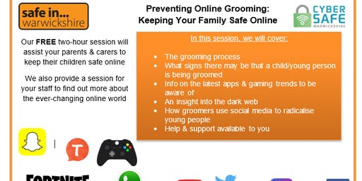 STRATFORD Prevent Online Grooming: Keeping your family safe.