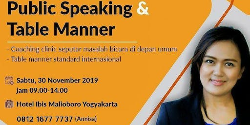 Public Speaking & Table Manner