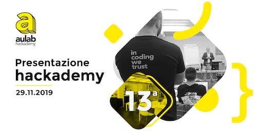 Presentazione hackademy 13ª edizione