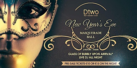 New Years Eve - Masquerade Ball (EARLY BIRD TICKETS) tickets