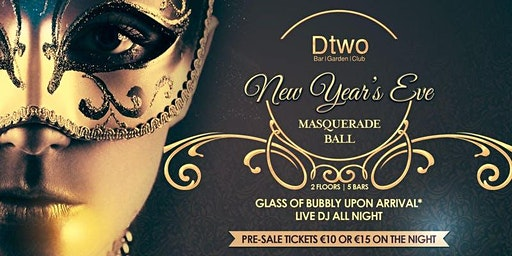 New Years Eve - Masquerade Ball (EARLY BIRD TICKETS)