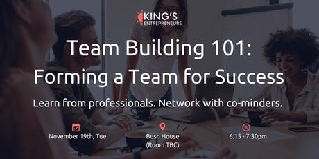 Team Building 101: Forming a Team for Success tickets