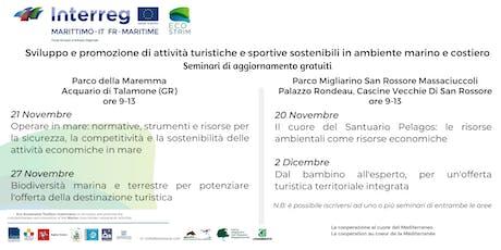 Competitività e sostenibilità delle attività economiche del mare (Talamone) biglietti