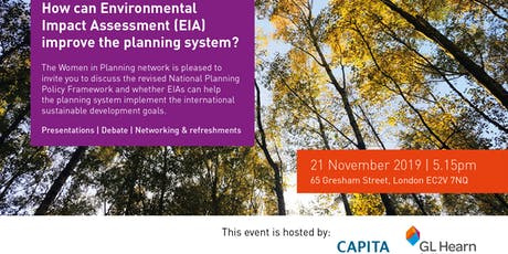 Women in Planning London - How can EIA improve the planning system tickets