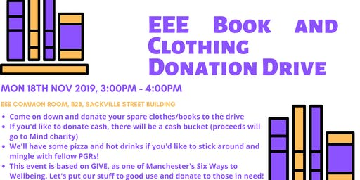 EEE Book and Clothing Donation Drive