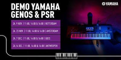 Demo Yamaha keyboards bij Bax Music