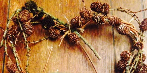 Foraged Wreath Making at Forge Fach