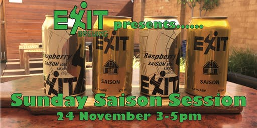 Exit Brewing's Sunday Saison Session
