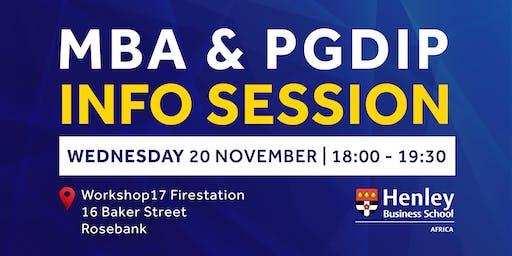 MBA & PGDip Information Session - Rosebank | #HenleyAfrica
