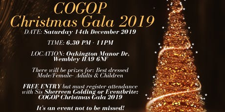 COGOP Christmas Gala 2019 tickets