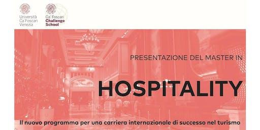Presentazione Master in Hospitality