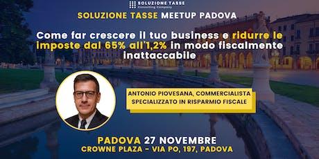 Soluzione Tasse MeetUp - Padova biglietti