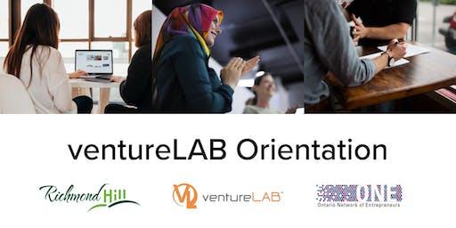 ventureLAB Orientation Session for Innovative Companies in Richmond Hill - Nov 26 (Tues)