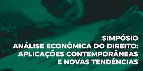 Simpósio Análise Econômica do Direito: Aplicações e  Novas Tendências. ingressos