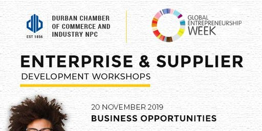 Workshop Enterprise and Supplier Development:  20 - 21 November 2019