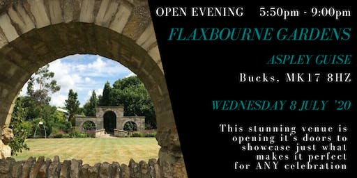 Flaxbourne Gardens wedding & event venue open evening