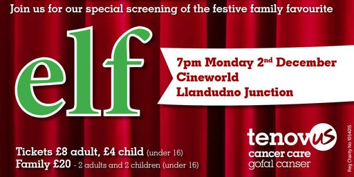 Elf at Cineworld Llandudno Junction