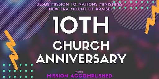 JMNM Church 10th Anniversary