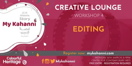 Workshop 4 -  Editing [Evening Session] tickets