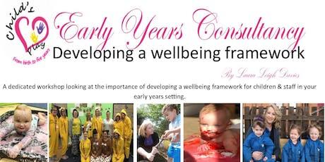 Developing a wellbeing framework tickets