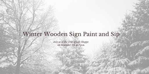 Winter Wooden Sign Paint & Sip