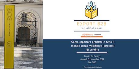 Export b2b con Alibaba.com biglietti