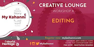 Workshop 4 -  Editing [Weekend Session]