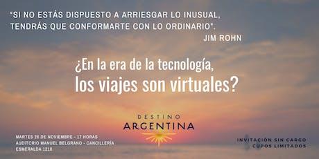 ¿En la era de la tecnología, los viajes son virtuales? entradas