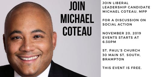 A Discussion on Social Action with Michael Coteau, MPP