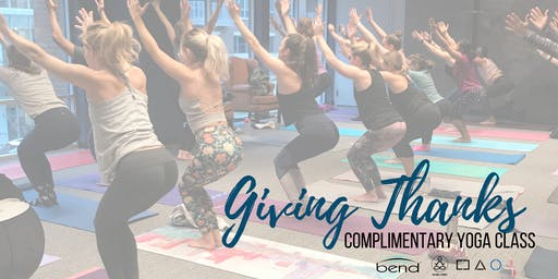 Thanksgiving Yoga Class with Bend & PAI at Brick House Blue