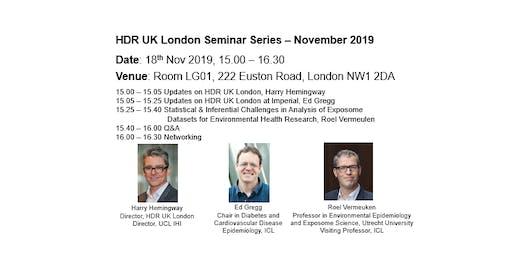 HDR UK London Seminar Series (Nov 2019)