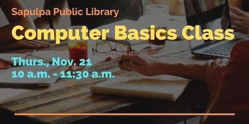 Free Computer Basics Class