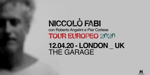 Niccolò Fabi - Live in London - European Tour