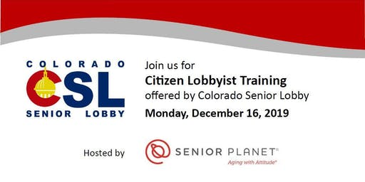Citizen Lobbyist Training with Colorado Senior Lobby