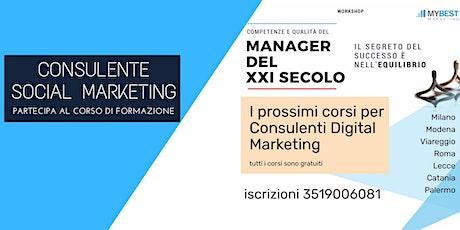 Consulente Social Marketing d'Impresa biglietti