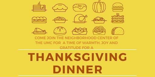 Neighborhood Center- UMC Community Thanksgiving Dinner