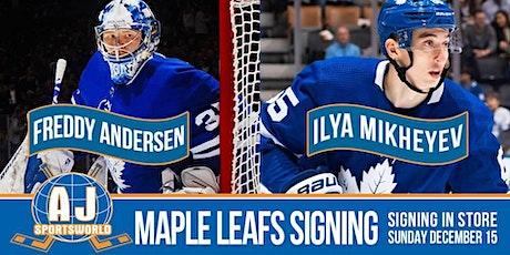 Freddy Andersen & Ilya Mikheyev In Store Signing tickets