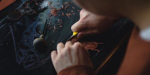 Christmas Lino Printing Workshop / Gweithdy Argraffu Leino'r Nadolig
