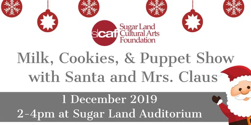 Milk, Cookies, & Puppet Show with Santa and Mrs. Claus