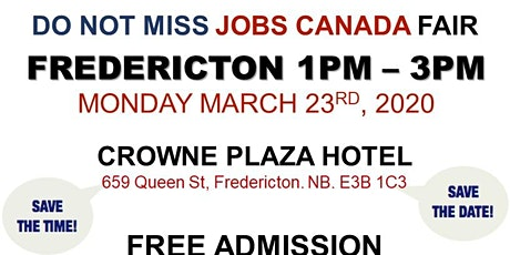 Fredericton Job Fair – March 23rd, 2020 tickets