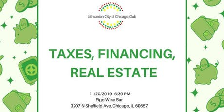 Taxes, Financing, Real Estate tickets
