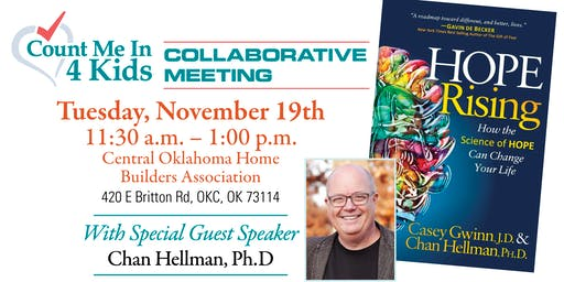 CMI4K presents Hope Rising with Chan Hellman, Ph.D.