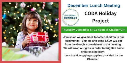 LC December Luncheon: CODA Holiday Project