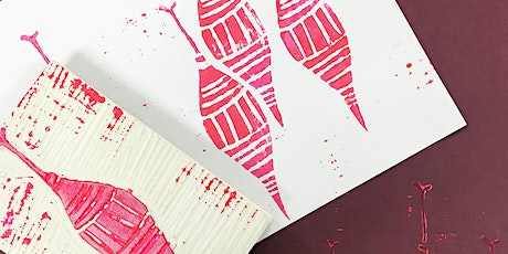 Block print your own festive wrapping paper and cards tickets