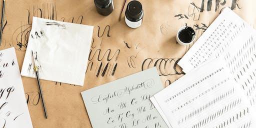 Brush Lettering for beginners &  John Lewis & Partners Southampton 7 DEC