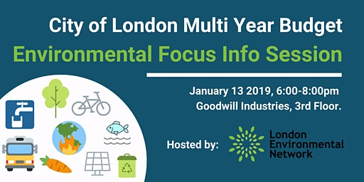 City of London Multi Year Budget - Environmental Info Session