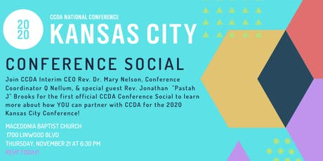 CCDA Conference Social KC tickets