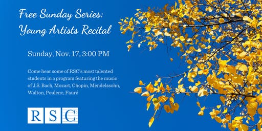 Free Sunday Series:  Young Artists Recital