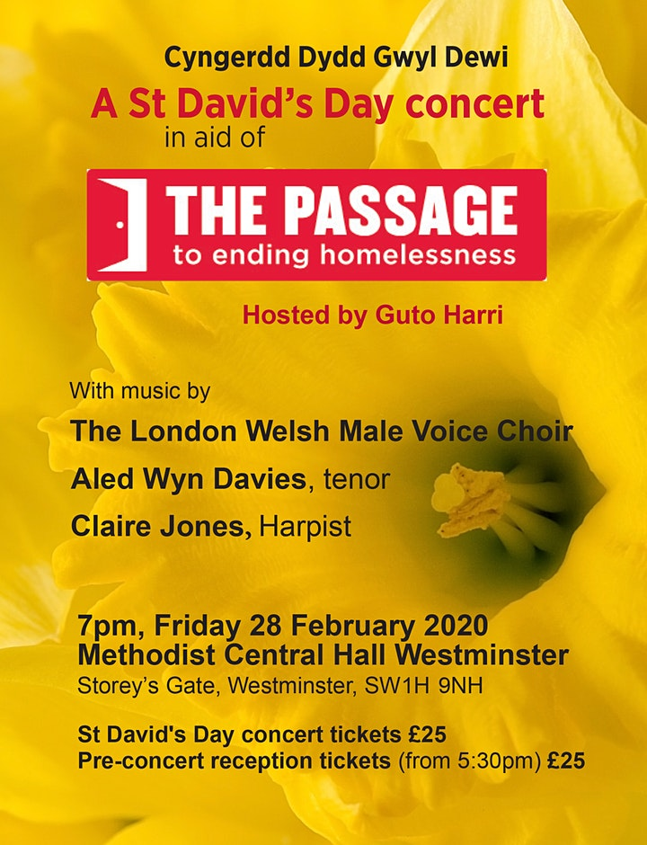 A St David's Day Concert in aid of The Passage image